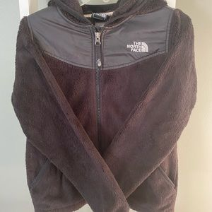 North face kids black fleece size 8/10